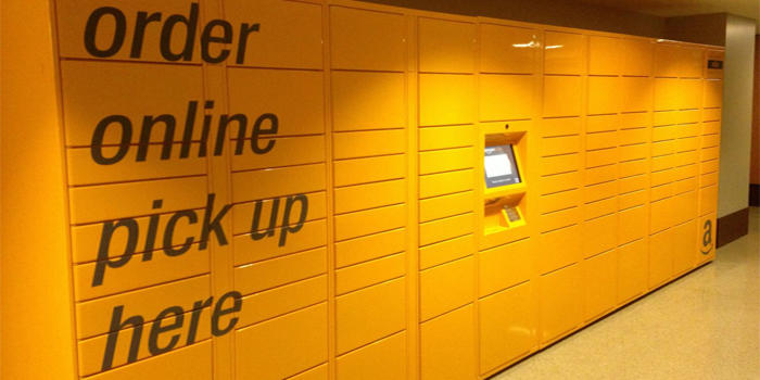 Casier click and collect